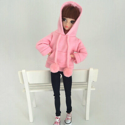 Fashion Doll Clothes Sweatshirt Coat For 11.5in. Doll Outfits Pants Shoes 1/6 6