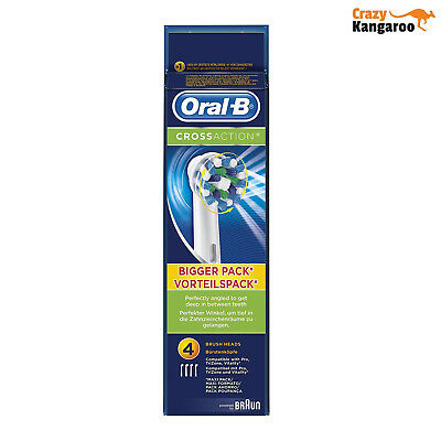 Oral B CrossAction Electric Brossettes de Rechange Lot de 4 Livraison Gratuite 2