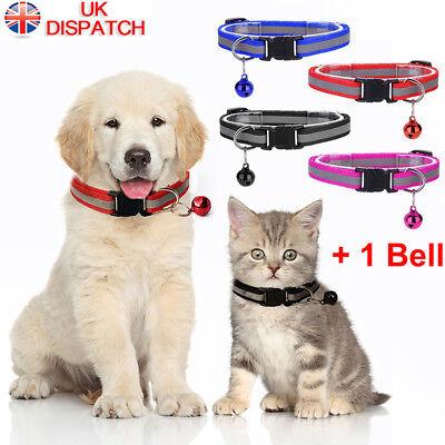 Pet Cat Dog Reflective Collar Flashing Light Up Nylon Night  Collars NEW 2