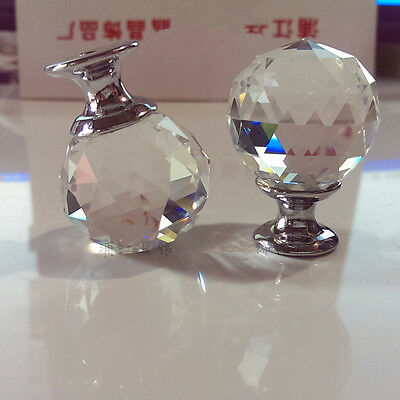 Zinc alloy Spherical crystal 30mm sparkle cabinet drawer door pulls knobs handle 5