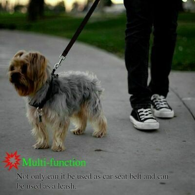 Adjustable Pet Dog Travel Seat Belt Clip Lead For Car Safety Restraint Harness U 4