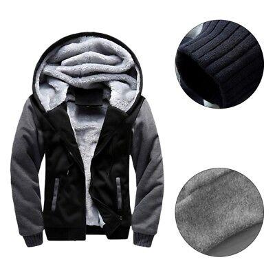 Men's Winter Thick Warm Hoodie Jacket Male Wool Coat Lining Casual Outwear M-5XL 3