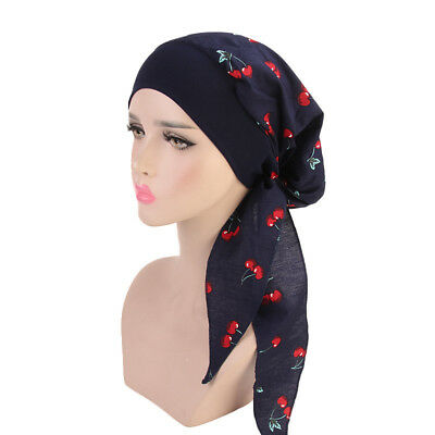 Women Cancer Hat Chemo Pirate Cap Muslim Hair Loss Head Scarf Turban Head Wrap 7