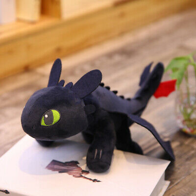 """10""""/14"""" UK How to Train Your Dragon 3 Toothless Night Fury Light Fury Plush Doll 6"""