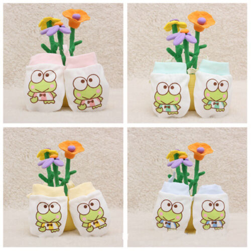 Baby Infant Toddler Anti Scratch Mittens Newborn Boy Girl Cartoon Cotton Gloves 3