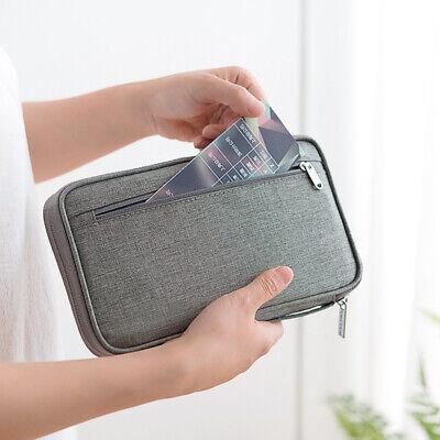 Family Passport Holder Travel Wallet Card Ticket Trip Document Organizer Case 4