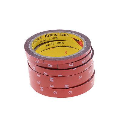 Cinta permanente doble cara adhesiva adhesivo pegamento fuerte + forro rojo 3m 2