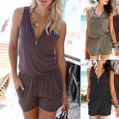 ... femme vacances mini combi-short combinaison été robe de plage Court  pantalon 2 d847b56e718