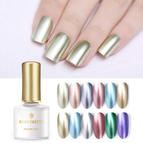 BORN PRETTY UV LED Glitter Sequins Gel Nail Polish Soak Off Topcoat Varnish 6ml 12