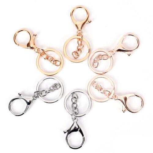 10pcs DIY porte-clés bijoux découvertes fermoir porte-clés de homard