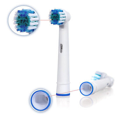 4 Oral 3D White Compatible Electric Toothbrush Heads Replacement Brush Braun B 3