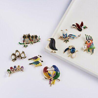 Fashion Brooch Pin Animal Bird Crystal Pearl Enamel Women Wedding Jewelry Gift 6