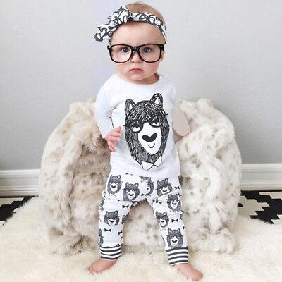 2pcs nouveau né enfant bébé bébé garçon vêtements t-shirt haut + pantalon tenues