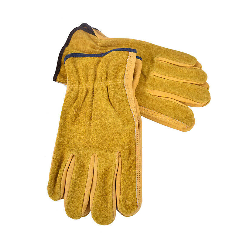 Heavy Duty Gardening Gloves Thorn Proof Leather Work Gloves Waterproof 9