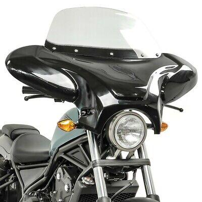 Batwing Windschild für Yamaha XVS 650 A Drag Star Classic Verkleidung rauchgrau