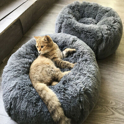 Round Dog Bed Mats Winter Warming Washable Cat's House Breathable Lounger Sofa 2