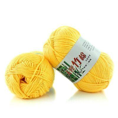 ... 5 of 7 Fashion Soft Bamboo Crochet Cotton 50g Knitting Yarn Baby Knit Wool Yarn KY