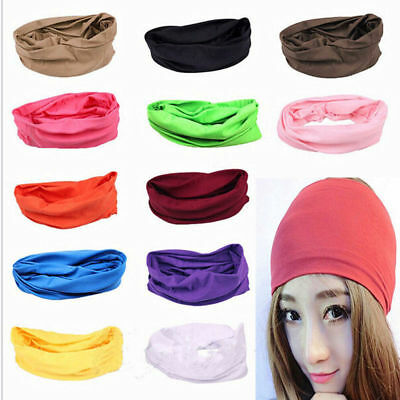 2019 ! Solid Colors Scarf Tube Bandana Head Face Mask Neck Gaiter Snood Headwear 5