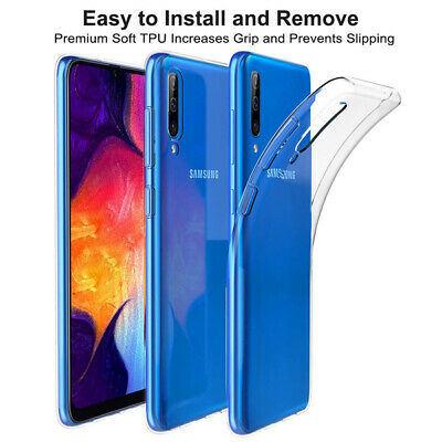 For Samsung Galaxy A50 A40 Ultra-Thin Clear Soft Silicone Shockproof Case Cover 2