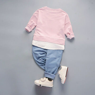 Kids toddler Baby boys girls outfits cotton tops+pants boys casual tracksuit 6