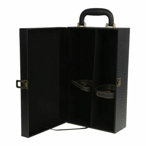 Wine Bottle Box Luxury Leather Bag 2 Red Wine Champagne Tote Carrier Travel Case 8