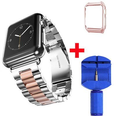 Stainless Steel iWatch Band Strap Wrist With Case For Apple Watch Series 1/2/3/4 4