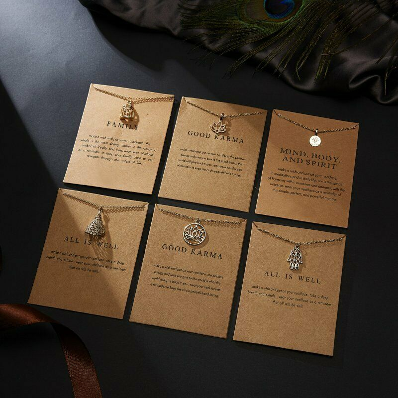 Women Animal Owl Cat Clavicle Short Paper Card Necklace Pendant Gold Chain Gift 4
