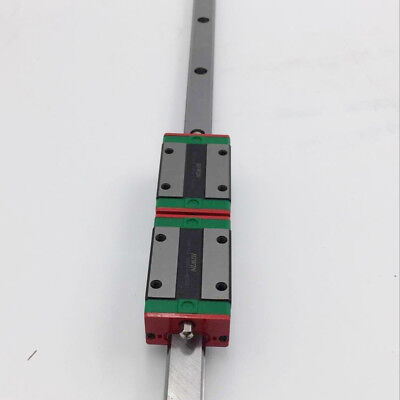 L-750mm HIWIN Linear Rail Guide EGR15 HGR15 HGR20 HGR25 HGR30 & 2pc Rail Block 2