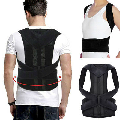 Posture Corrector Brace Women Men Full Back Support Clavicle Shoulder Belt Body 8