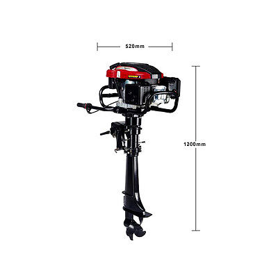7 HP 4-Stroke Outboard Motor Transom Mount Boat Engine Air Cooling 196CC 11