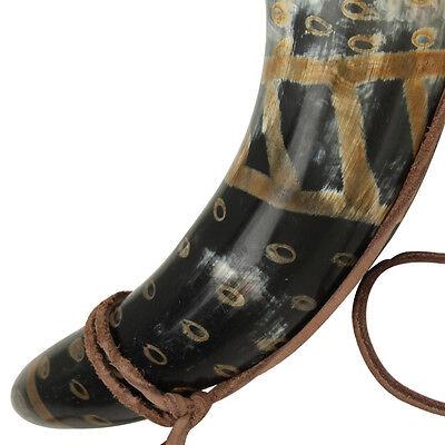 Viking Drinking Horn Norman Leather Holder 3