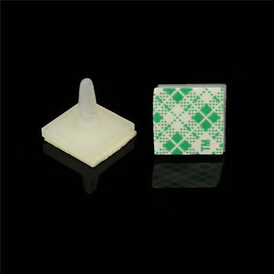 100x Nylon Plastic PCB Spacer Standoff 2.5mm Hole support Locking Snap-in Posts
