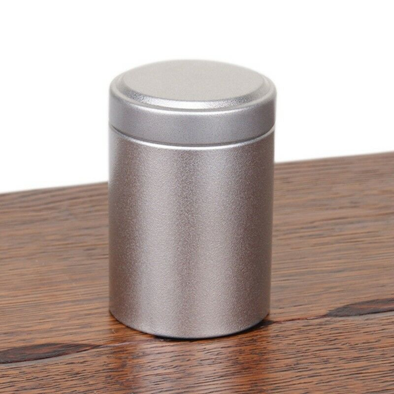 NEW Airtight Smell Proof Container Aluminum Herb Stash Tea Jar Metal Seale oyw