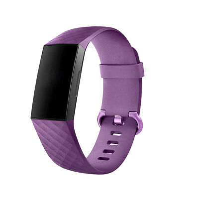 For Fitbit Charge 3 Watch Band Replacement Silicone Diamond Bracelet Wrist Strap 7