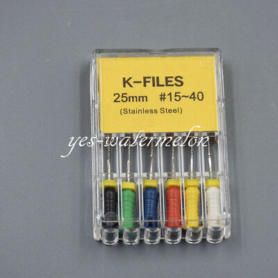 3 Boxes Dental Reamers Hedstrom-files K-files Stainless Steel 25mm Size 15-40# 6