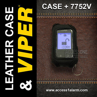 Viper 7752v 2 Way Lcd Replacement Remote Control And Leather Case