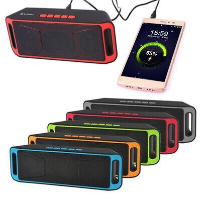 Portable Rechargable Wireless Bluetooth Speaker USB FM Radio Stereo Speaker  NEW 2