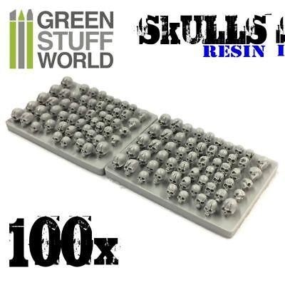 100x Resin Skulls - Sack of Skulls - Basing Scatter Scenery for Miniature Bases