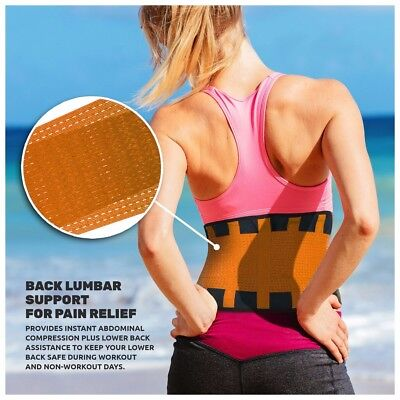 Lumbar Back Support Belt Lower Pain Relief Adjustable Double Pull Brace Neoprene