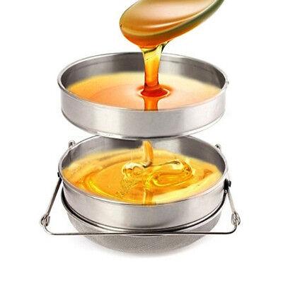 Double Sieve Leaf Honey Strainer Filter Beekeeping Tool Stainless Steel Farming