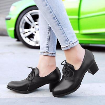 Details about  /Vintage Womens Pointed Toe Cuban Heel Pumps T-Strap Oxfords Brogue Shoes Plus Sz