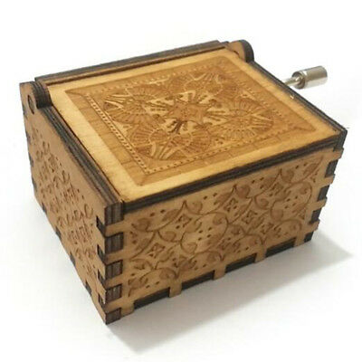 Game of Thrones Theme Music Box Engraved Wooden Crafts  Interesting Toys Gifts 2