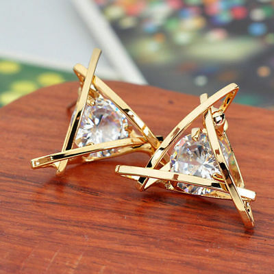 New 1 Pair Elegant Women Crystal Rhinestone Pearl Ear Stud Fashion Earrings Gift 5