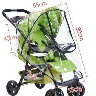 Universal Buggy Rain Cover Baby Pushchair Stroller Pram Buggy Clear Raincover UK 11