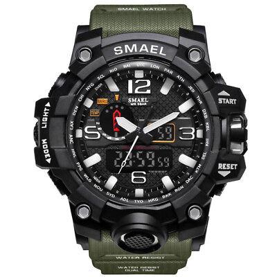 SMAEL S Shock Waterproof Sports Military Men's Analog Quartz Digital Watches 2