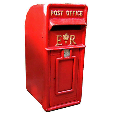 ER Royal Mail Post Box  ERII pillar box Red cast iron post box post office box 9