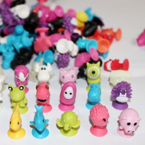 10pcs Mini Animal Action Figure Sucker Cup Cartoon Monster Child Kids Toys w 3