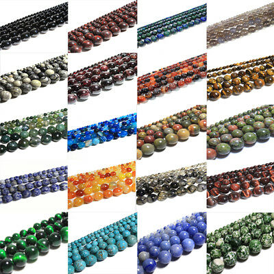 Wholesale Natural Matte Gemstone Round Spacer Loose Beads 4mm 6mm 8mm 10mm 12mm 5