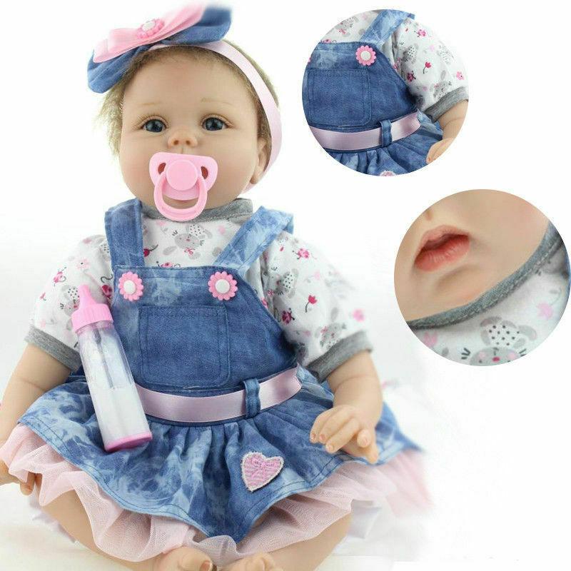 22 inch Realistic Reborn Baby Dolls Lifelike Newborn Girl Baby Doll Gifts 3