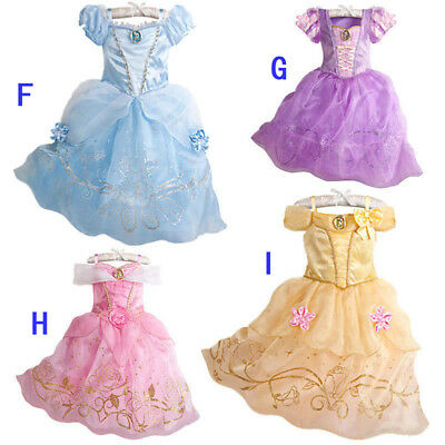 c390ed93991e7 FILLES ROBE DE Princesse Déguisement Rapunzel Belle Cendrillon Sofia Cosplay